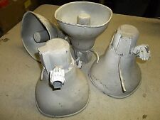 Lot of 4 Unbranded Loudspeaker Paging Horns *FREE SHIPPING*