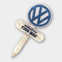 VW Split Bay T25 T4 T5 T6 LT Crafter Camper Van Personalised Pitch Reserve Sign