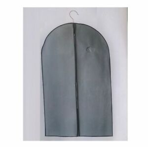 Kleidersack Kleider Schutzhülle Kleidertasche Grau 60 x 100 cm, 2 Stück
