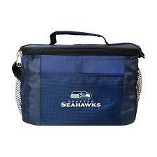 SEATTLE SEAHAWKS LUNCH TOTE 6 PK BEER SODA TEAM LOGO KOOLER BAG NFL FOOTBALL
