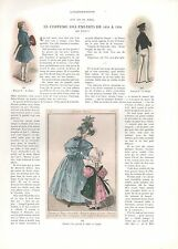 Doc.Ancien Le Costume des enfants de 1834 à 1934  Fashion for children 1934  2j