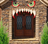 jollylife Halloween Monster Face Decorations - Outdoor Garage Door Archway Car P