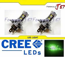CREE LED 50W HS1 12V GREEN TWO BULB HEAD LIGHT BIKE ATV SCOOTER LAMP SHOW USE