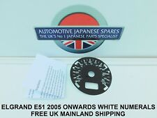 FITS NISSAN ELGRAND E51   STAR 2005 > KPH TO MPH WHITE SPEEDO FACE