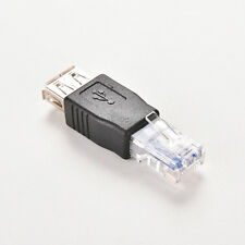 USB A Female F to Ethernet RJ45 Male Router Adapter Plug Socket LAN Network 3E9