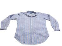 Ralph Lauren Shirt Blue Red Stripe Long Sleeve Classic Cotton Button Down Mens M