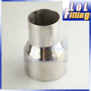 """New 2"""" inch OD To 3"""" inch OD Exhaust Reducer Connector Stainless Steel Pipe"""