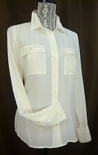NWT J. CREW BLYTHE BLOUSE SILK CREPE DE CHINE ALABASTER IVORY SIZE 10 Petite