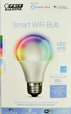 FEIT Electric Smart WiFi LED Color Changing & Dimmable A19 60W Bulb, NEW
