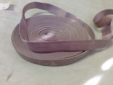 "10 Yard 1"" Lilac HANK FRENCH Antique Vintage Silk Rayon Satin Back Velvet Ribbon"
