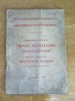 Railwayana Original LMS Instructions - Train Signalling Regulations January 1947
