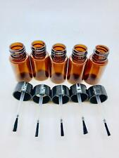10ml Amber Pet Bottles with Brush Applicator for Various Types of Glue, Liquids