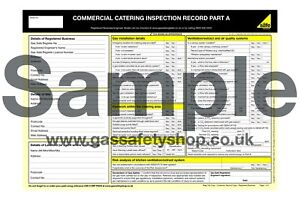 Gas Safe Certificate - Commercial Catering Record Pad