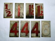 Vintage Gas Station Raised Metal Sign Fuel Price Numbers 1930s