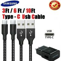 3/6/10FT Fast Charge USB C Cable For OEM LG Samsung Charger Type C Charging cord