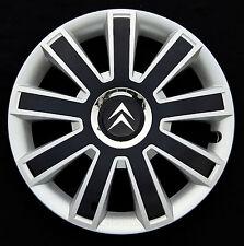 "Brand New silver/black 14"" wheel trims hub caps to fit Citroen  C1,C2,Saxo"