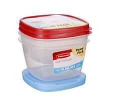 Rubbermaid Reusable Food Storage Containers Blue Ice Value Pack