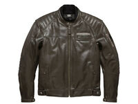 HARLEY-DAVIDSON® MEN'S EDGE LEATHER RIDING JACKET 97196-18EM MEDIUM