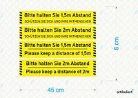 Bitte Abstand halten - Fußbodenaufkleber - versch. Versionen - R9 - Gelb/Schwarz