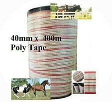 400m x 40mm Roll Polytape for Electric Fence Poly Tape Wire Suit Solar Energiser