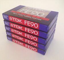 TDK FE90 Ferric Low Noise High Output BLANK TAPE CASSETTE - New & Sealed