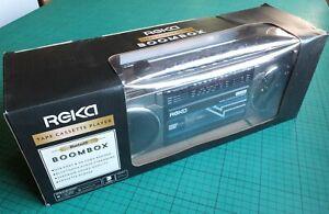 Reka Boombox (still in box), radio cassette recorder with USB/Bluetooth FM/MW/SW