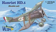 Hanriot HD.1 of Willy Coppens and Italian (TWO 1/144 model kits, Valom 14411)