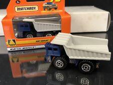 DIRT HAULER #75 1999 MATCHBOX 1/64 SCALE DUMP TRUCK BLUE/GRAY 6 PIECE LOT