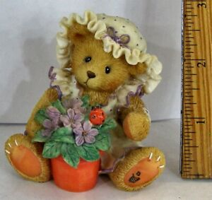 Cherished Teddies Violet Blessings Bloom When You Are Near Figurine