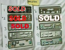 More details for 1x i/o io plate back shield choice of one matx atx unknown motherboard pclt10h