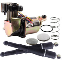 New Air Suspension Compressor Pump & Rear Shock Kit FOR CHEVY GMC & CADILLAC