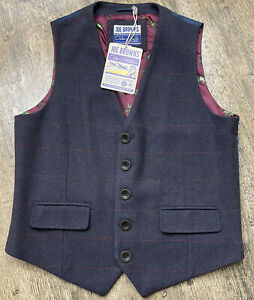 "Bnwt Joe Browns wool mix Tweed mens waistcoat size 42"" chest UK Medium New #A"