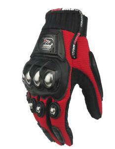 Alloy Steel Knuckle Bicycle Motorcycle Motorbike Powersports Racing Gloves XXL