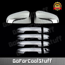 For Toyota 2012-2014 Camry Chrome Mirror + Door Handle Cover W/O Pskh Combo Set