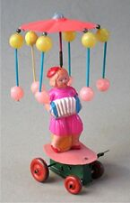 Vintage  Celluloid Wind-Up Toy  Girl Playing  Accordion - Occupied Japan
