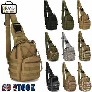 AOKALI Tactical Shoulder Bag Sling Messenger Military Chest Pack Fanny Backpack