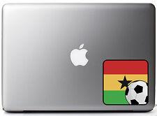 """Ghanaian Flag Soccer Fan Full Color - Vinyl Decal for 13"""" Macbook"""