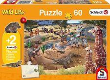 Schmidt Puzzle 56191 An der Wasserstelle 60 Teile mit 2 Schleich Figuren