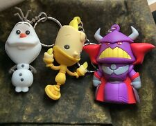 New listing 3 Disney Keychains Olaf Frozen Beauty and the Beast Lumiere Toy Story Zurg