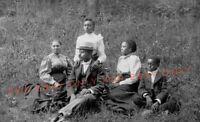 Vintage 1910 Photo reprint African American Black Family Man Woman Children