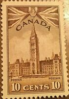 1942 CANADA STAMP 10 CENTS PARLIAMENT