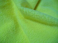 Plüsch von der Rolle 5 Meter Schaffelloptik  gelb