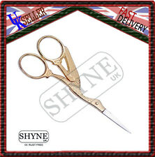 "4 1/2"" Full Gold Embroidery Scissors And Cross Stitch Sewing"