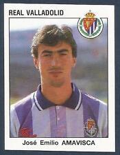 PANINI FUTBOL 93-94 SPANISH -#341-REAL VALLADOLID & SPAIN-JOSE EMILIO AMAVISCA