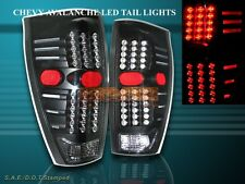 02-06 CHEVY AVALANCHE 1500 2500 TAIL LIGHTS LED BLACK NEW 2003 2004 2005