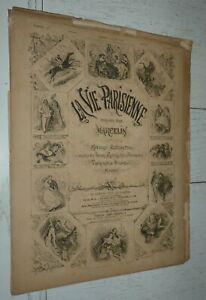 LA VIE PARISIENNE MARCELIN 06-03 1886 LES MUSES DES ROMANCIERS