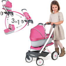 Smoby Quinny Puppenwagen 3in1 (Rosa-Grau)
