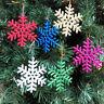 Bulk Glitter Snowflake Christmas Ornaments Xmas Tree Hanging Decoration