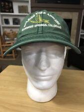 Roaring Fork Anglers Fly Fishing Green Baseball Cap Hat