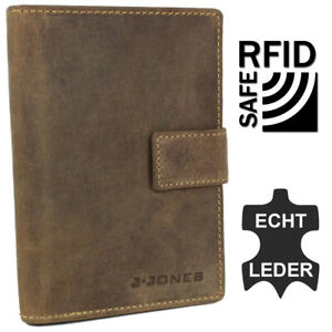 Men's Leather Wallet Rfid Large Purse Passhülle with Many Card Slots